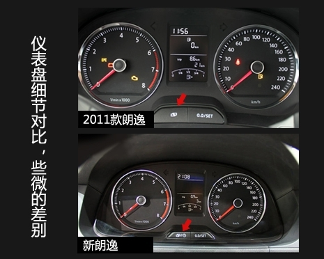 内饰/配置 虽然评测当天到店的只有一台1.6L自动车型,但据此前种种权威信息披露,8月19日全新朗逸将有1.6、1.4TSI两种动力,10款车型上市,其中1.6L有6款不同配置车型,1.4T有4款。 依据现款朗逸的 车型配置表分析,1.4TSI车型原本分品雅、品轩、运动3个配置,其中品雅、品轩各有一款手动和一款7挡双离合(不用插话大家也知道,就是有过坑爹嫌疑的那货);而1.
